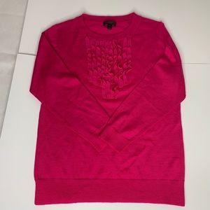 J Crew Merino Ruffle Sweater